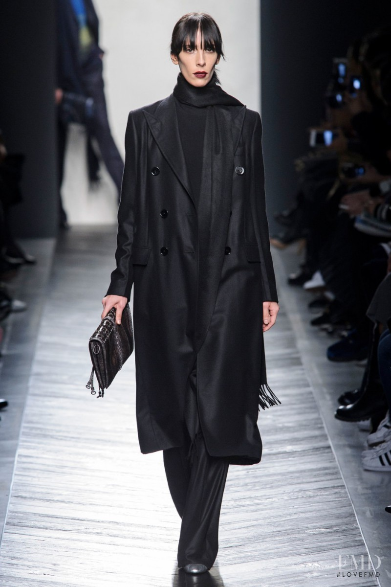 Jamie Bochert featured in  the Bottega Veneta fashion show for Autumn/Winter 2016