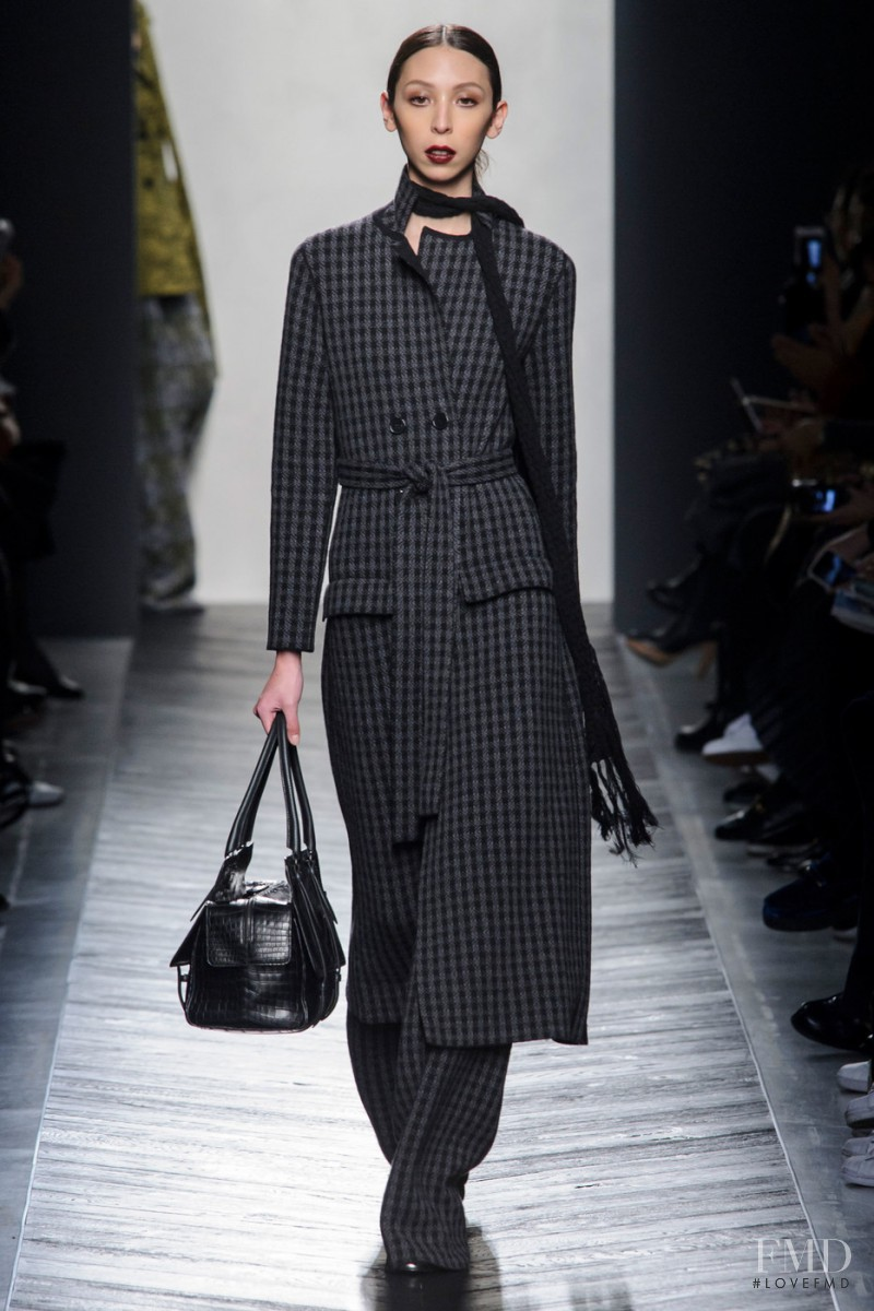 Issa Lish featured in  the Bottega Veneta fashion show for Autumn/Winter 2016