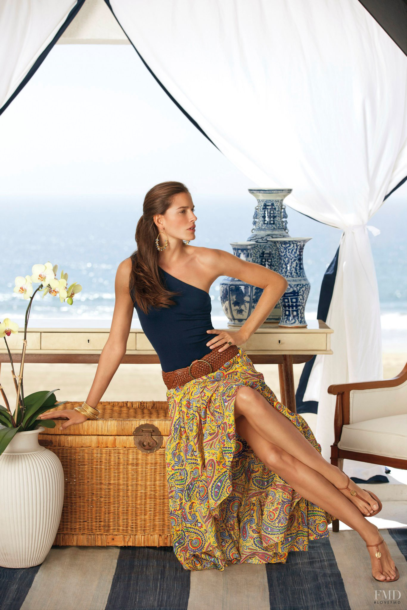 Chiara Baschetti featured in the Lauren by Ralph Lauren catalogue for Spring 2012. View this photograph in high resolution