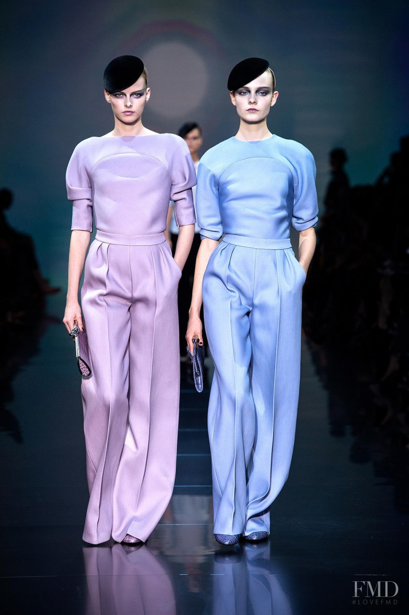 Elza Luijendijk featured in  the Armani Prive fashion show for Autumn/Winter 2012