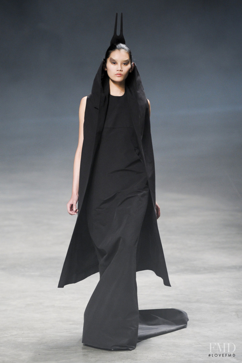 Ming Xi featured in  the Rick Owens fashion show for Spring/Summer 2011