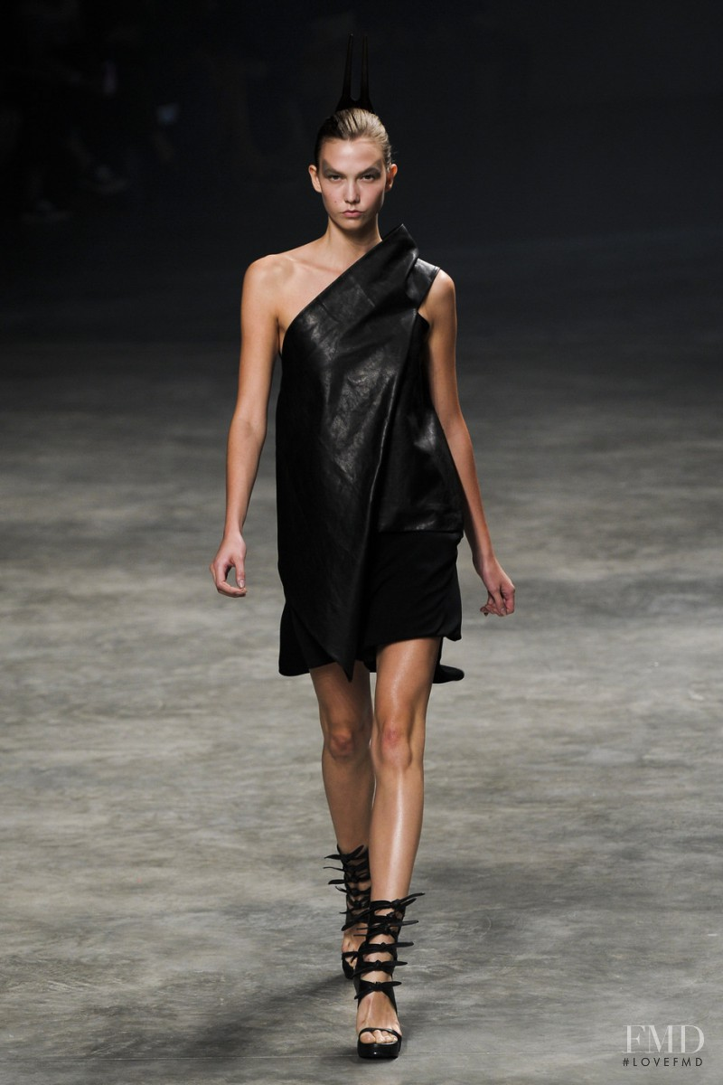 Karlie Kloss featured in  the Rick Owens fashion show for Spring/Summer 2011