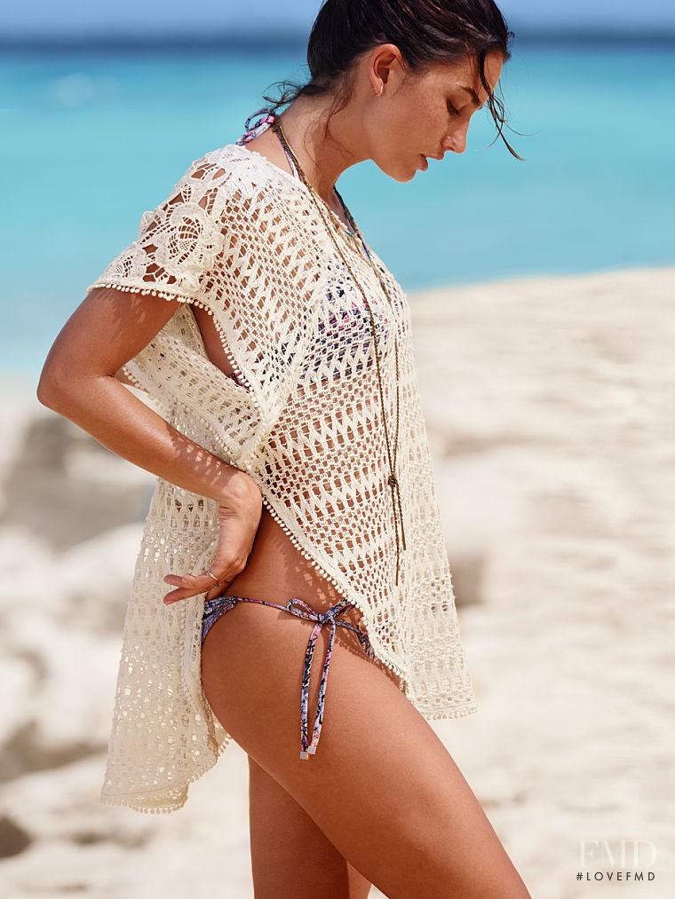 Lily Aldridge featured in  the Victoria\'s Secret Swim & Beachwear catalogue for Spring/Summer 2016