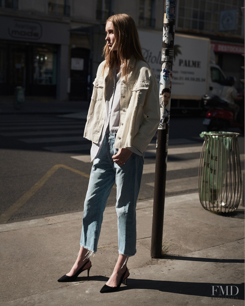 Kateryna Zub featured in  the Mango Denim lookbook for Fall 2017