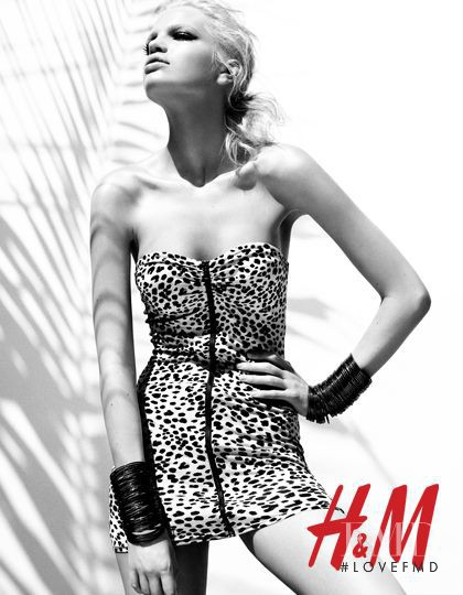 Daphne Groeneveld featured in  the H&M advertisement for Spring/Summer 2012