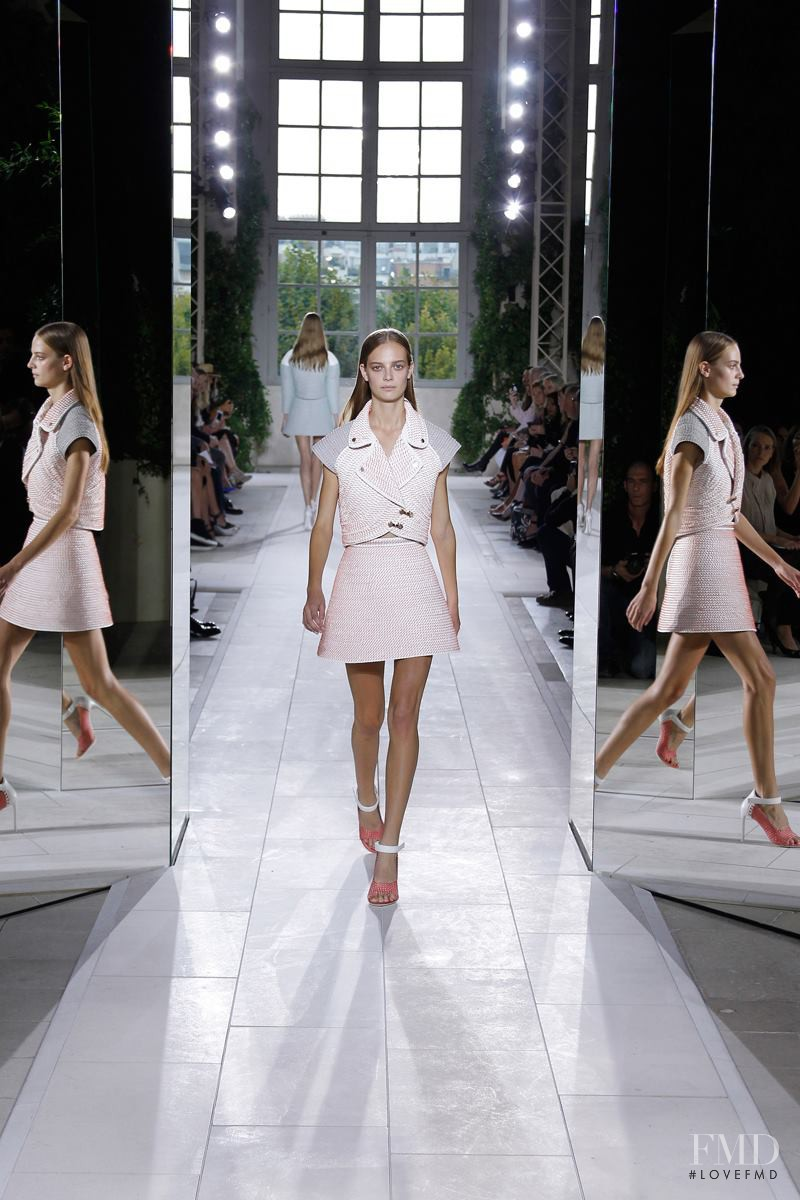 Ine Neefs featured in  the Balenciaga fashion show for Spring/Summer 2014