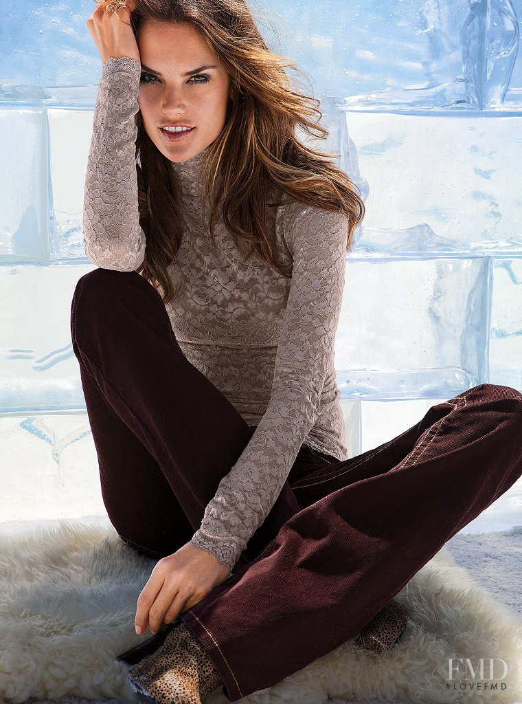 Alessandra Ambrosio featured in  the Victoria\'s Secret Clothes catalogue for Autumn/Winter 2011