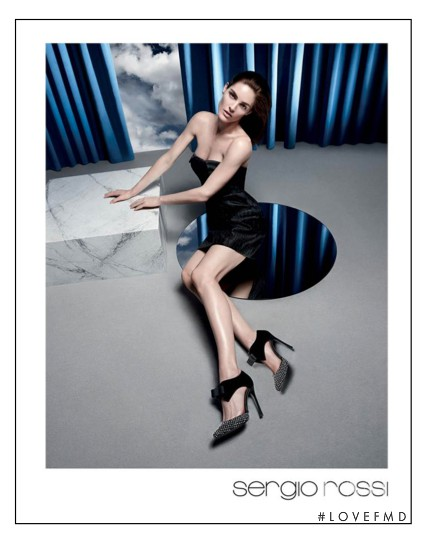 Hilary Rhoda featured in  the Sergio Rossi advertisement for Autumn/Winter 2014