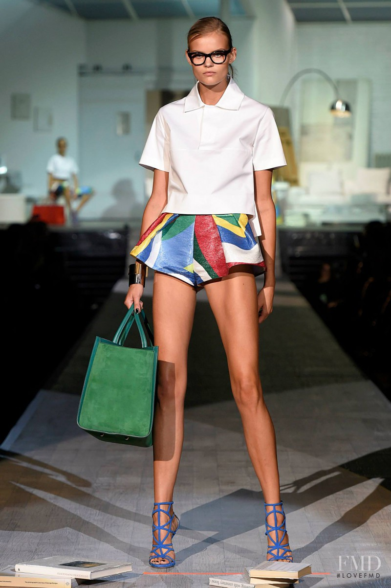 Kate Grigorieva featured in  the DSquared2 fashion show for Spring/Summer 2015