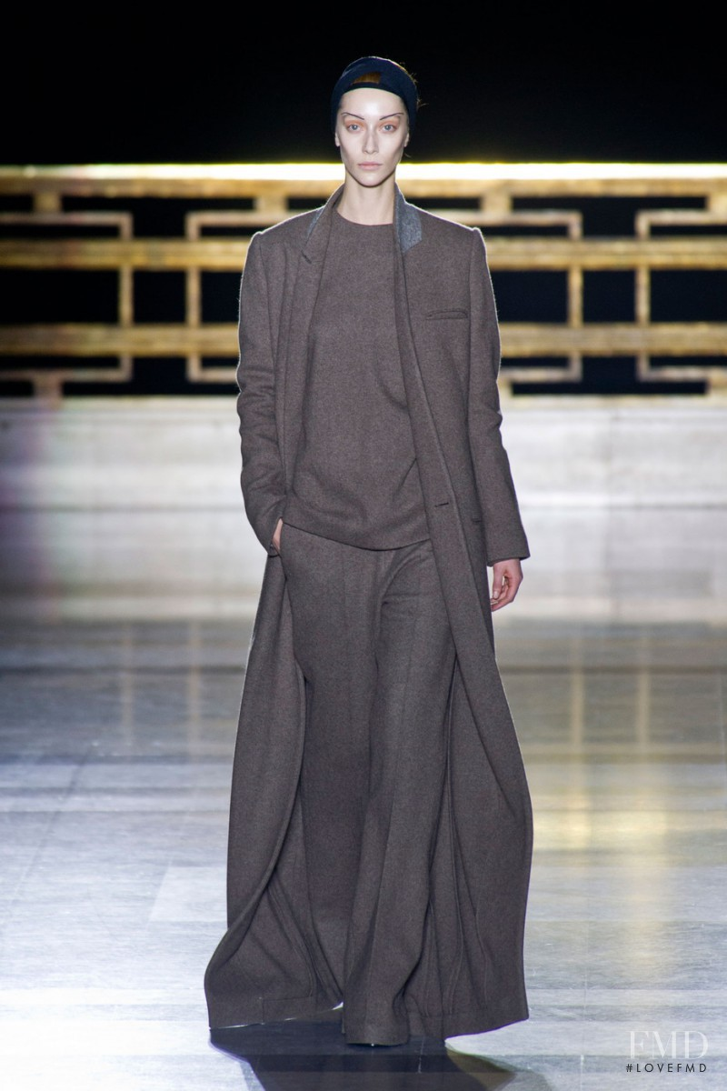 Alana Zimmer featured in  the Haider Ackermann fashion show for Autumn/Winter 2014