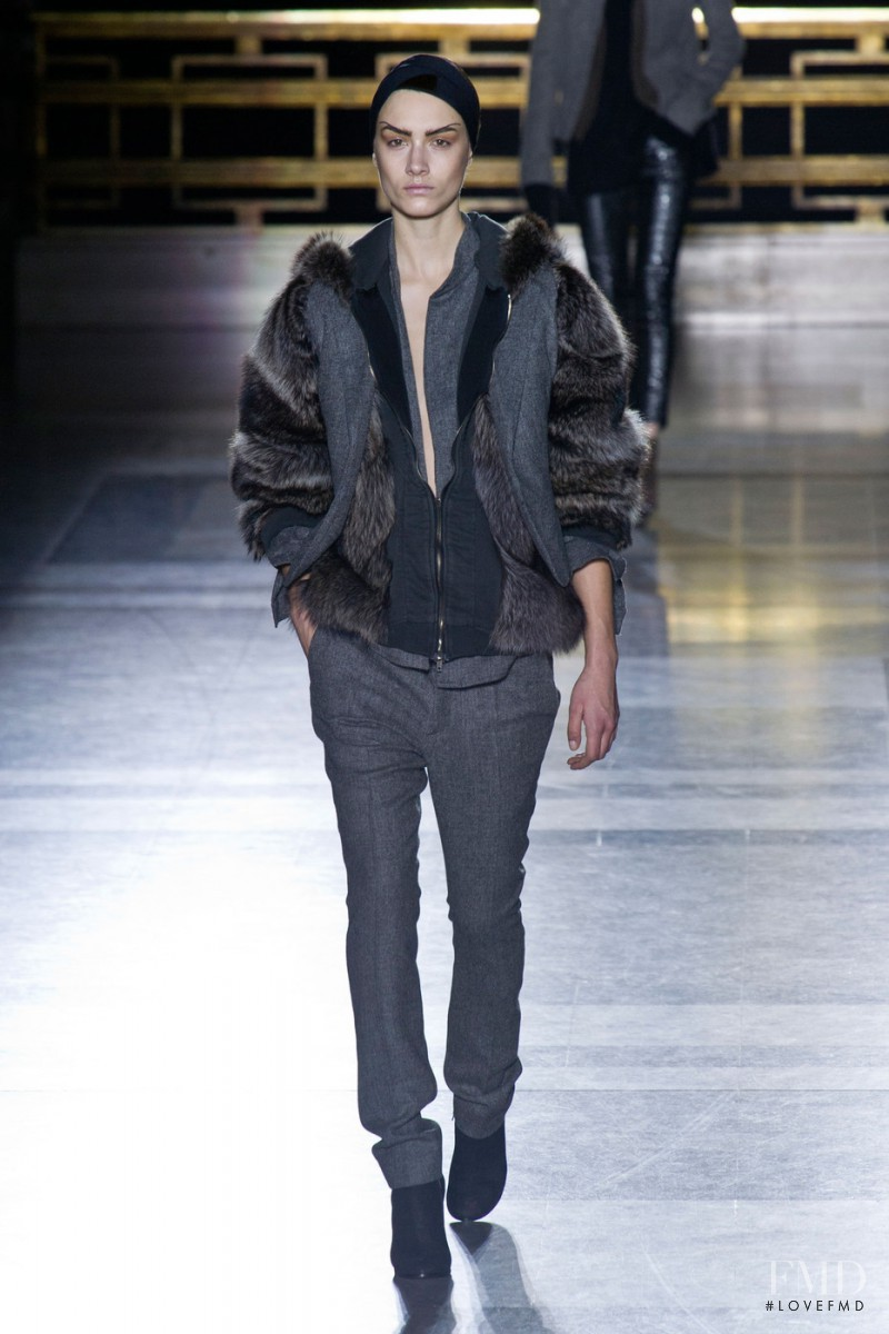 Ronja Furrer featured in  the Haider Ackermann fashion show for Autumn/Winter 2014