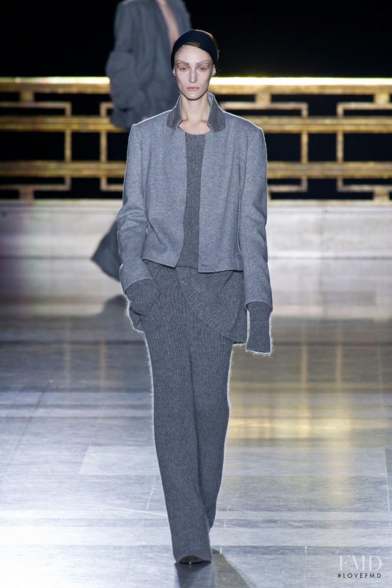 Franzi Mueller featured in  the Haider Ackermann fashion show for Autumn/Winter 2014