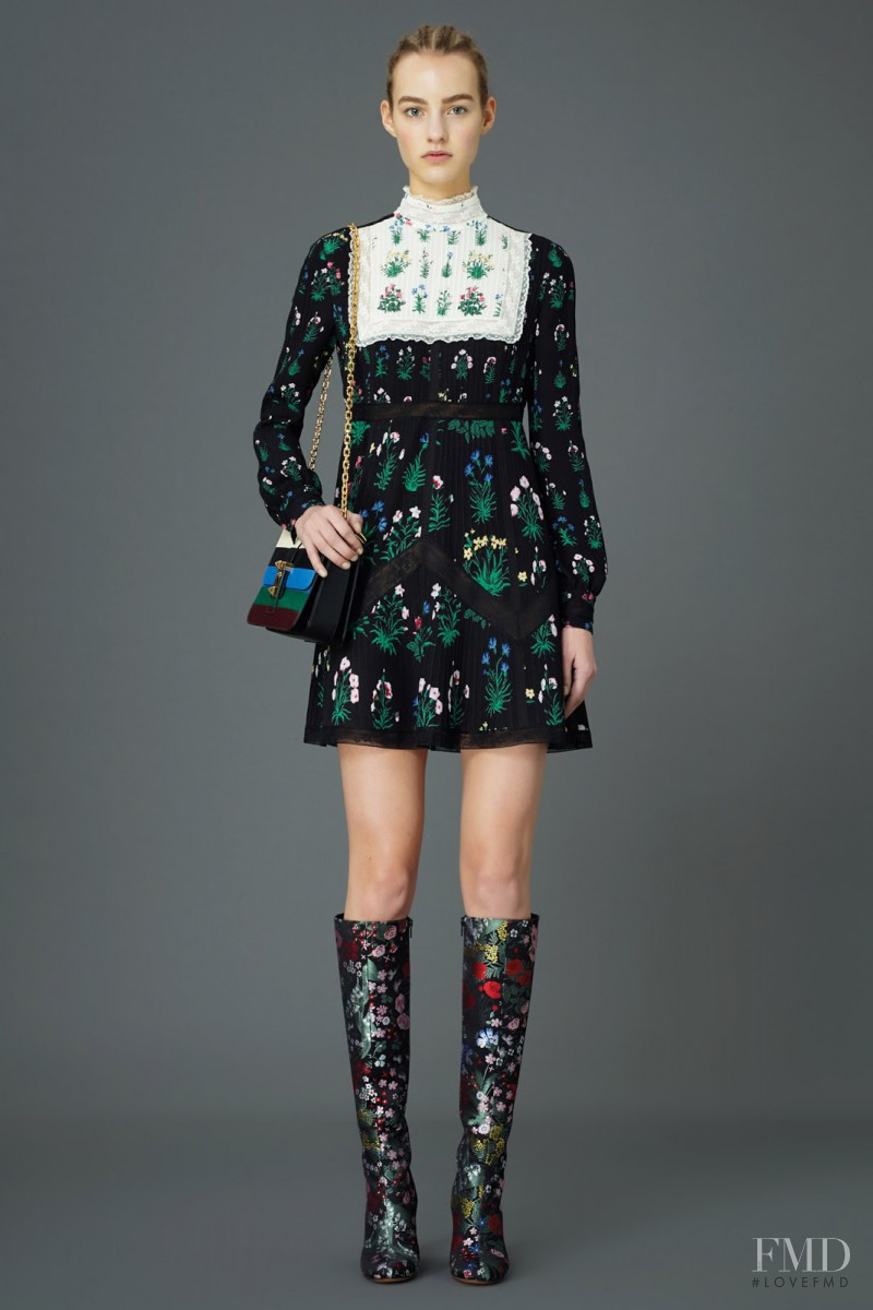Maartje Verhoef featured in  the Valentino lookbook for Pre-Fall 2015