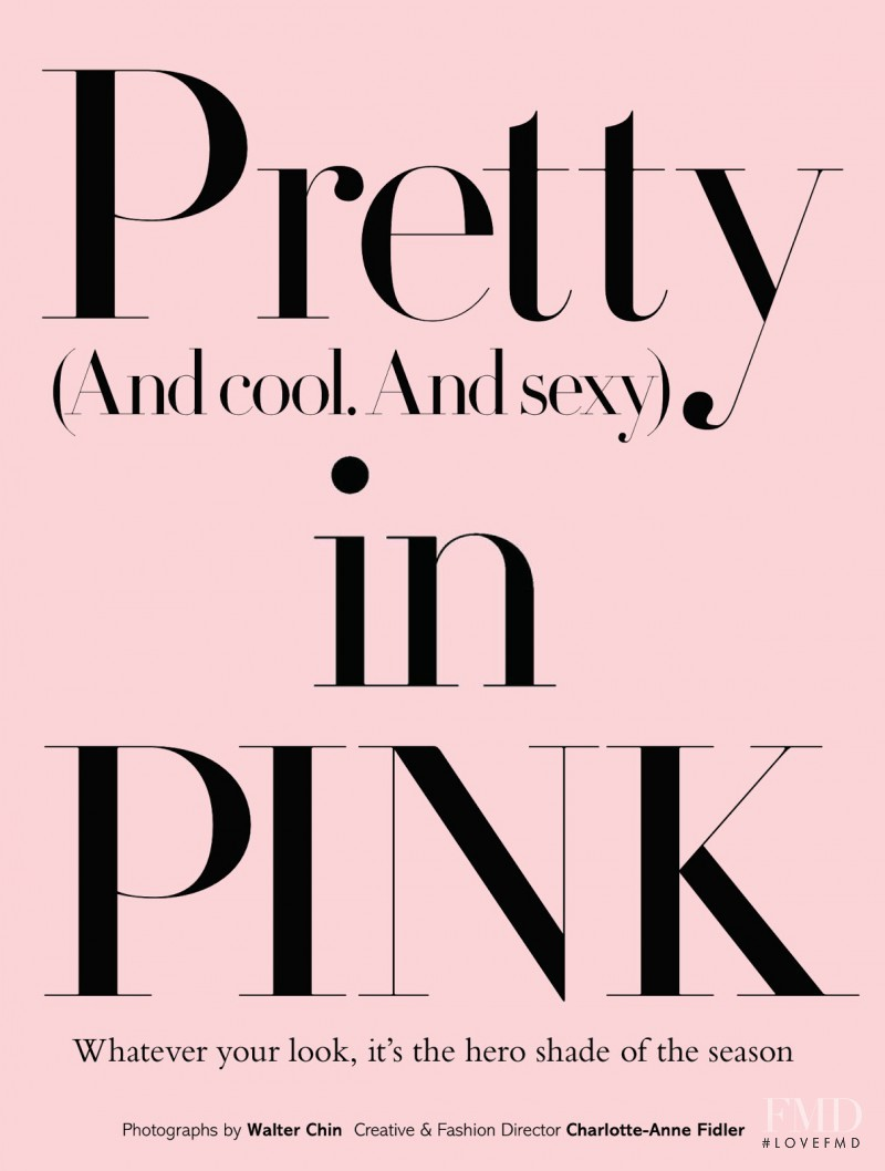 Pretty In Pink, September 2013