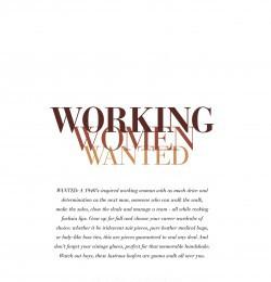Working Women Wanted