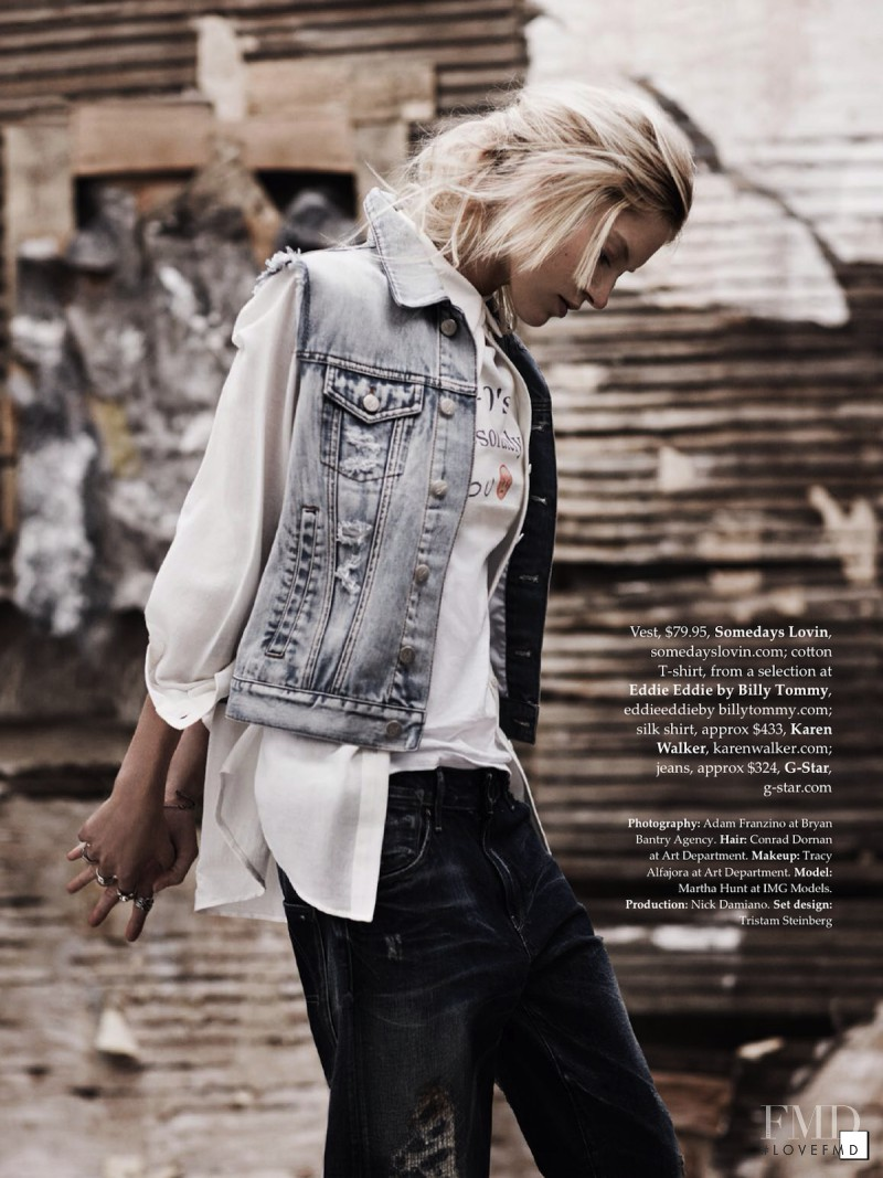 88ea7dc6e21b Distress Call in Elle Australia with Martha Hunt wearing Karen ...