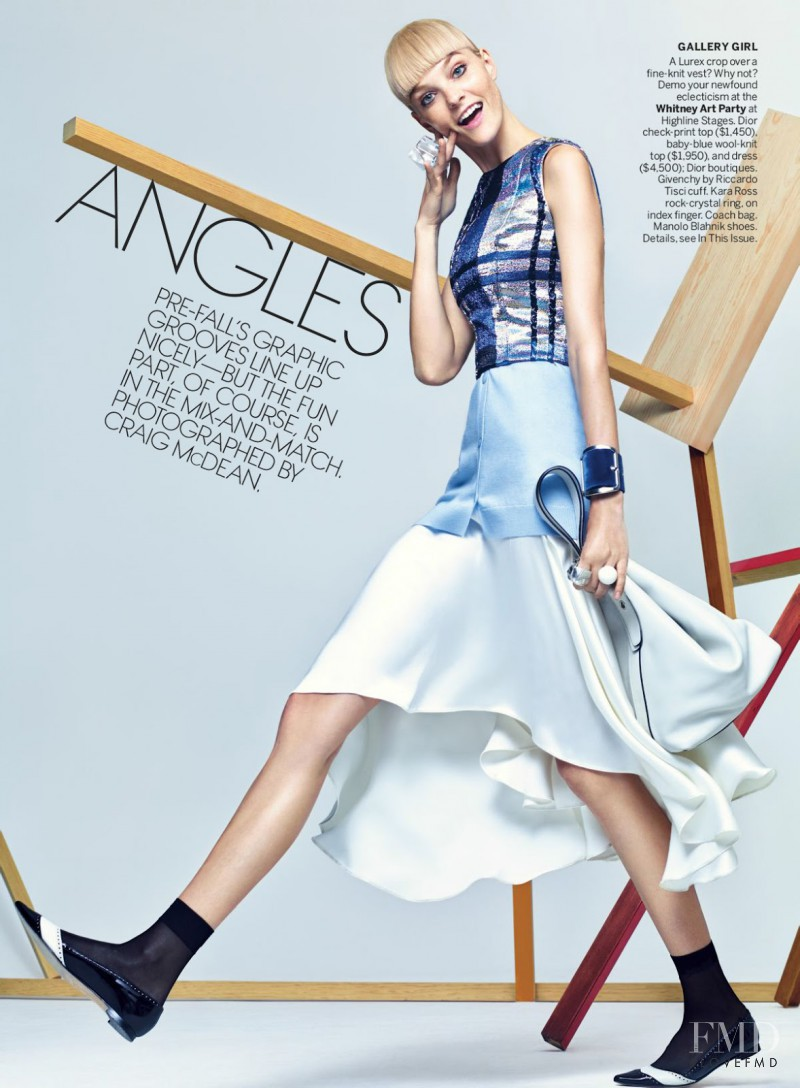 Caroline Trentini featured in Playing The Angles, May 2014