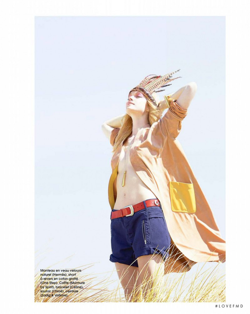 Lindsay Ellingson featured in Plage Libre, August 2014