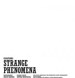 Strange Phenomena