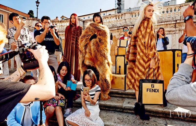 Caroline Trentini featured in Celebrating The Magic Of Rome, August 2015