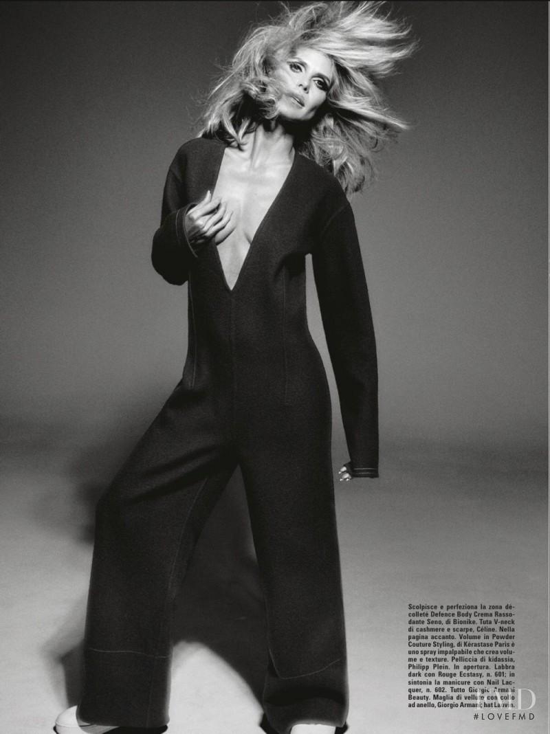 Heidi Klum featured in Beauty, July 2015
