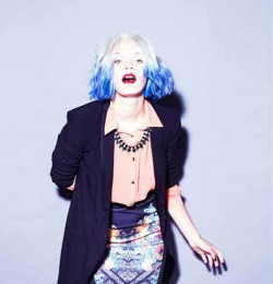 The blues: the coloured hair trend