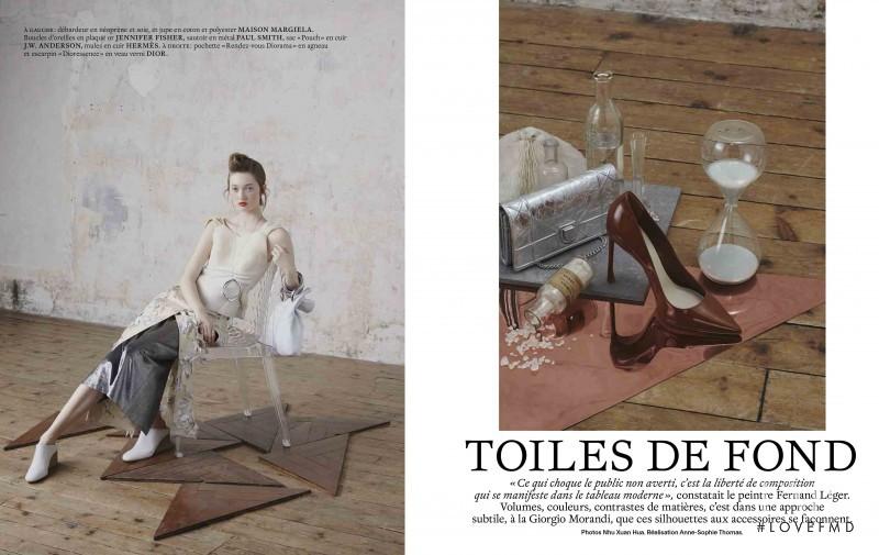 Sophia Linnewedel featured in Toile de Fond, April 2016