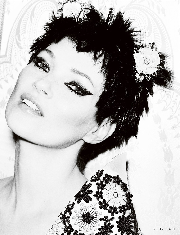 Kate Moss featured in Little Miss Optimist, March 2012