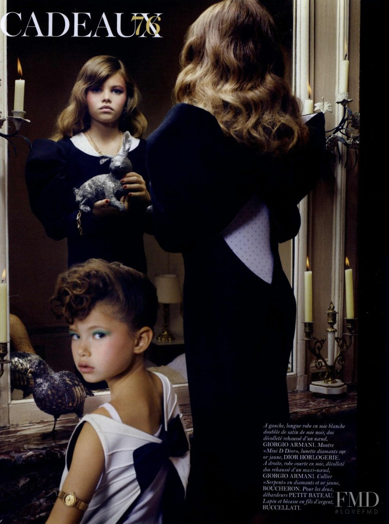 Thylane Blondeau featured in Cadeaux, December 2010