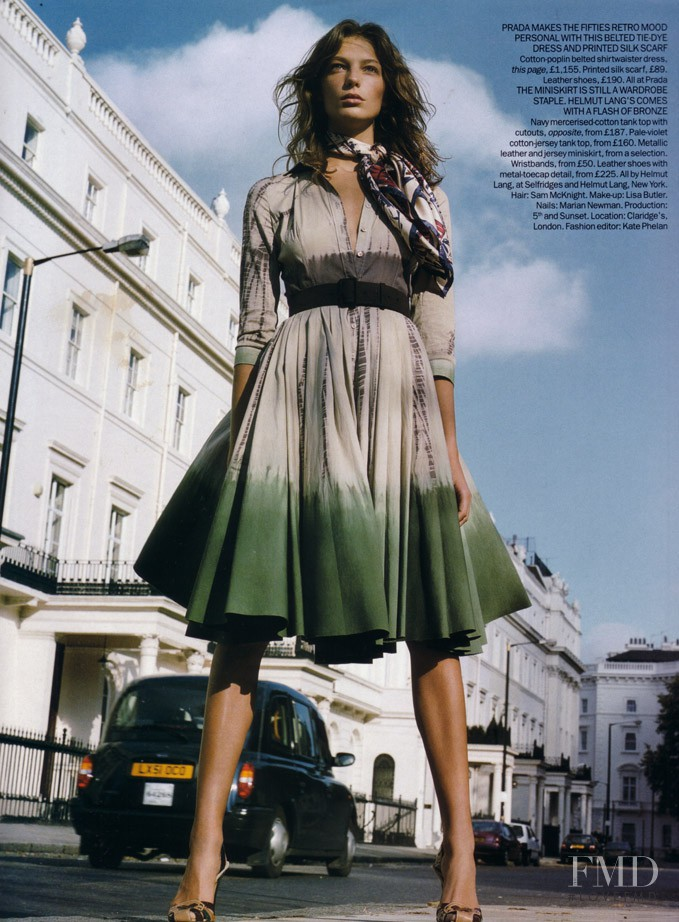 Daria Werbowy featured in Spring Forecast, February 2004