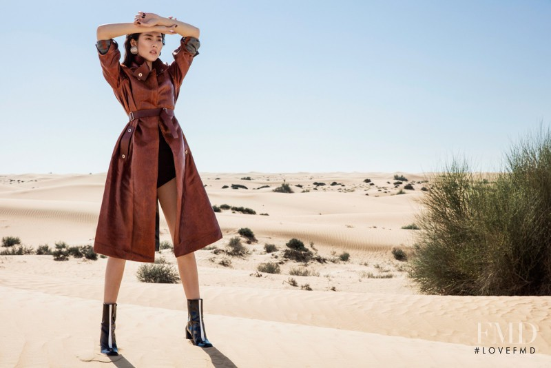 Liu Wen featured in Desert & Dazzle, March 2017