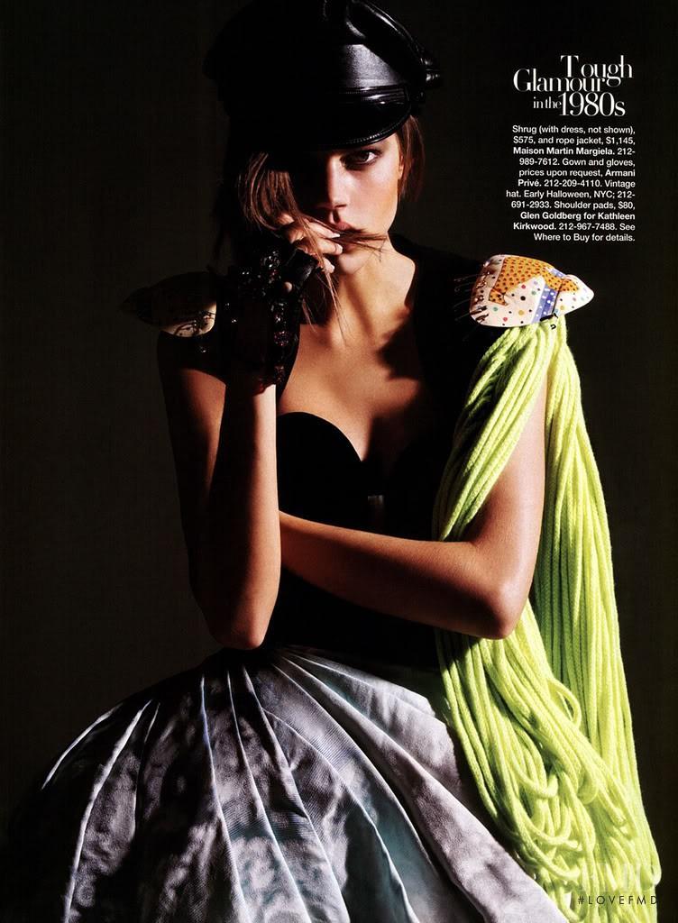 Freja Beha Erichsen featured in Fashion Through the Ages, November 2007