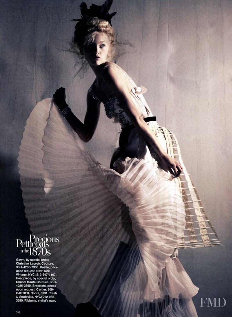 Sasha Pivovarova featured in Fashion Through the Ages, November 2007