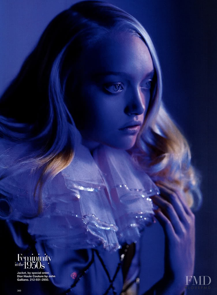 Gemma Ward featured in Fashion Through the Ages, November 2007
