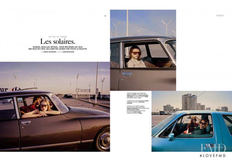 Manon Thiery featured in Les Solaires, June 2015