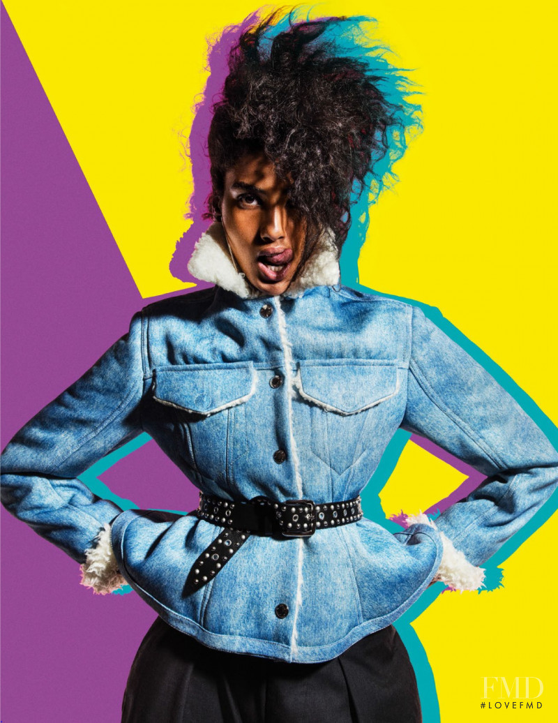 Imaan Hammam featured in Colours From The Block, December 2017