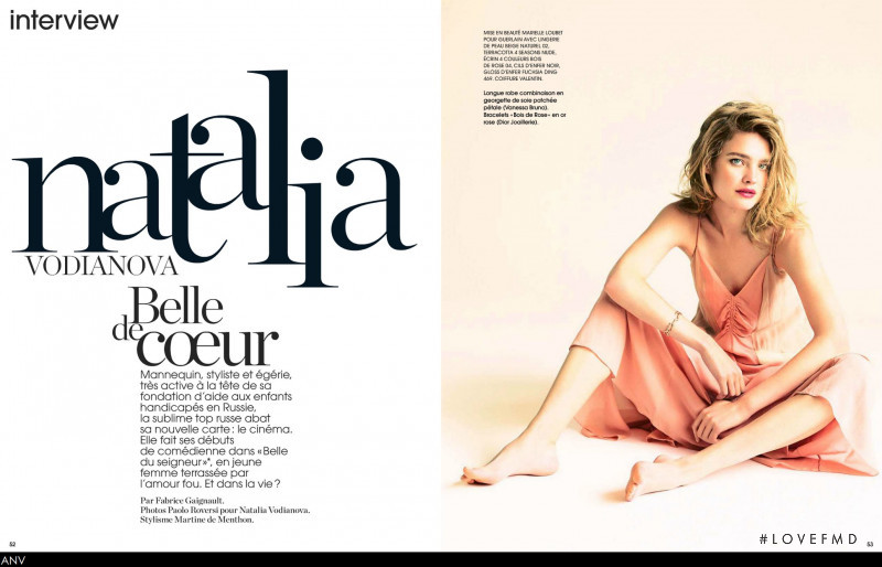 Natalia Vodianova featured in Natalia Vodianova Belle de coeur, August 2013