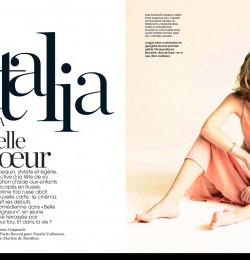 Natalia Vodianova Belle de coeur