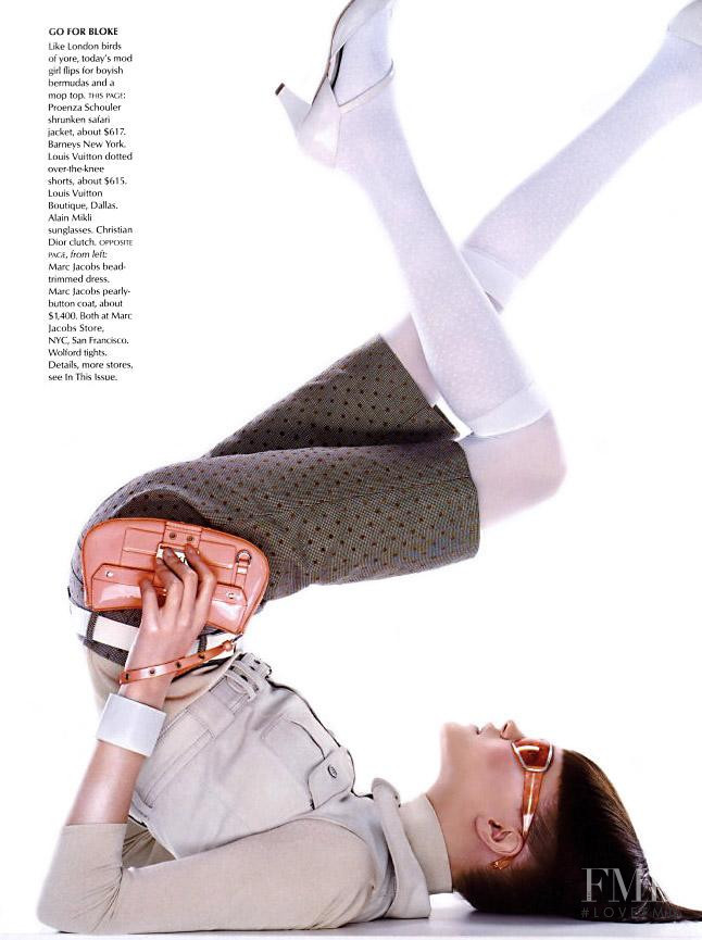 Natalia Vodianova featured in The Mod Squad, May 2003