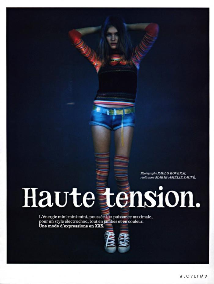 Natalia Vodianova featured in Haute Tension, March 2003