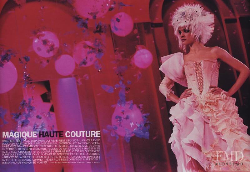 Natalia Vodianova featured in Magique Haute Couture, March 2003