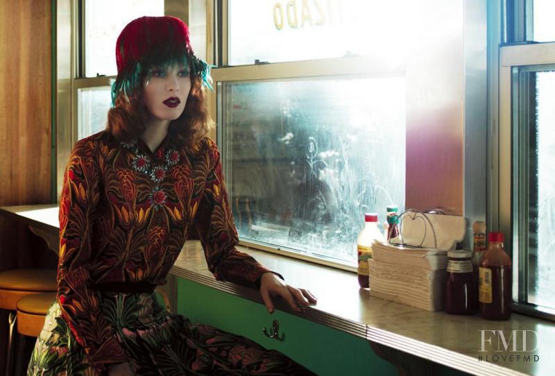 Karen Elson featured in Prada, February 2012