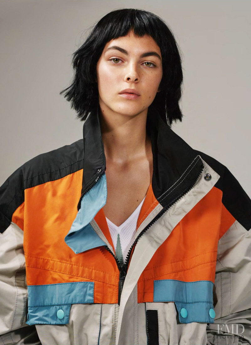 Vittoria Ceretti featured in Outside Edge, April 2018