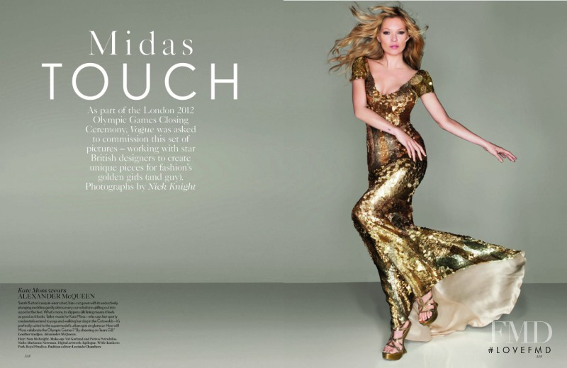 Kate Moss featured in Midas Touch, September 2012