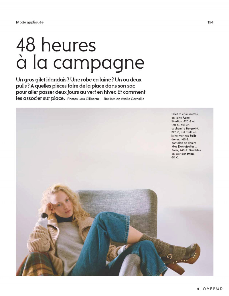 Marta Gawron featured in 48 heures à la campagne, February 2019