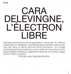 Cara Delevingne, L\'électron Libre
