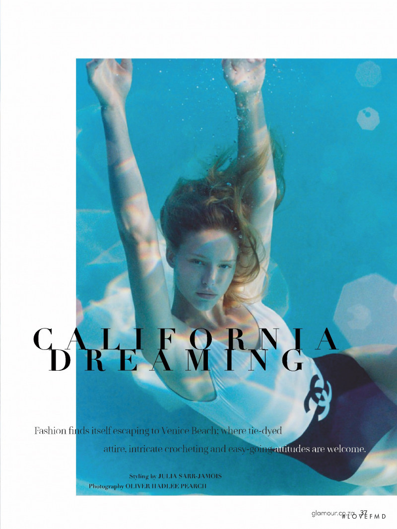 Jessica Stam featured in California Dreaming, May 2019