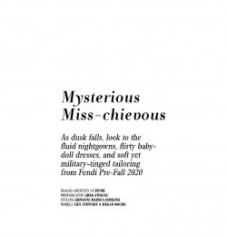 Mysterious Miss-chievous
