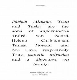 Parker, Mingus, Toan and Tarka