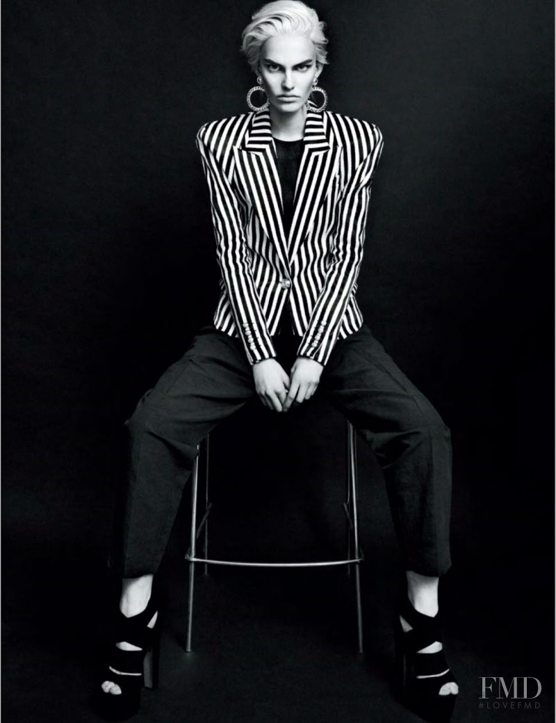Lisa Verberght featured in Black Stripes, February 2013